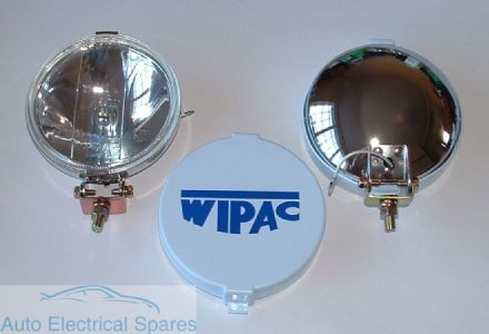 "WIPAC S6007 5 1/2"" CHROME Halogen Driving Spot Lamps (1 x PAIR )"